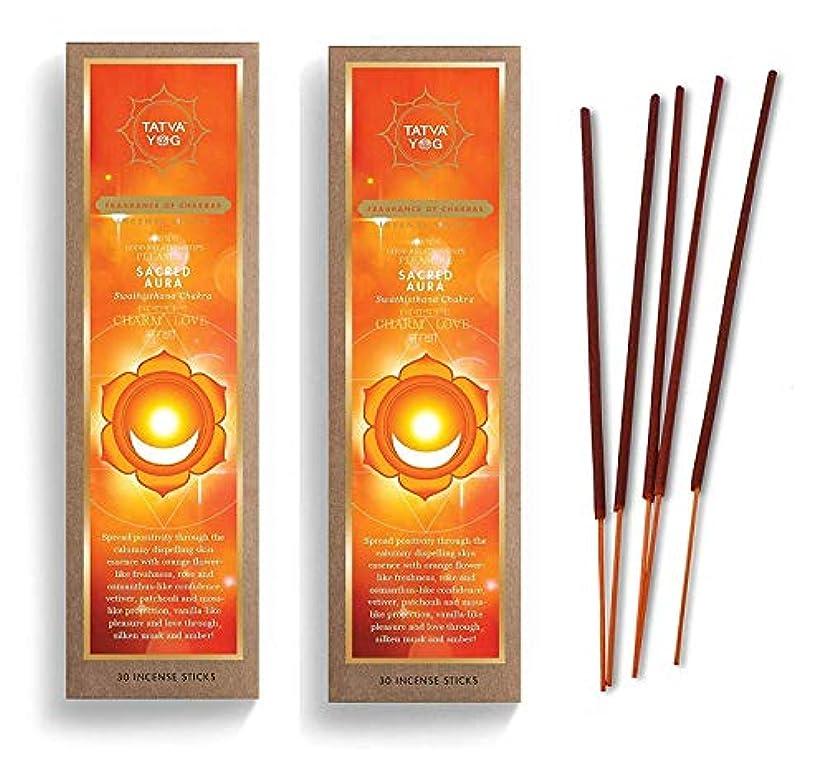曖昧な恐怖症ソケットSacred Aura Long Lasting Incense Sticks for Daily Pooja|Festive|Home|Scented Natural Agarbatti for Positive Energy|Good Health & Wealth (Pack of 2 | 30 Sticks Per Pack)
