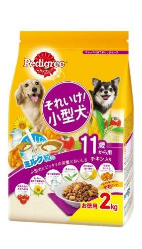 PK9 ペディグリーそれいけ 小型犬 11歳から用 チキン入り 2KG  4902397823902