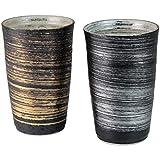 ランチャン(Ranchant) ペア陶酒杯 マルチ Φ7.9x12.2cm 金銀刷毛 有田焼 陶悦窯 日本製 ama-660903