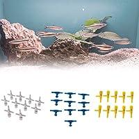 Baoblaze 水族館 酸素チューブ 魚タンク 2ウェイ エアポンプコントロールバルブ 軽量 使いやすい