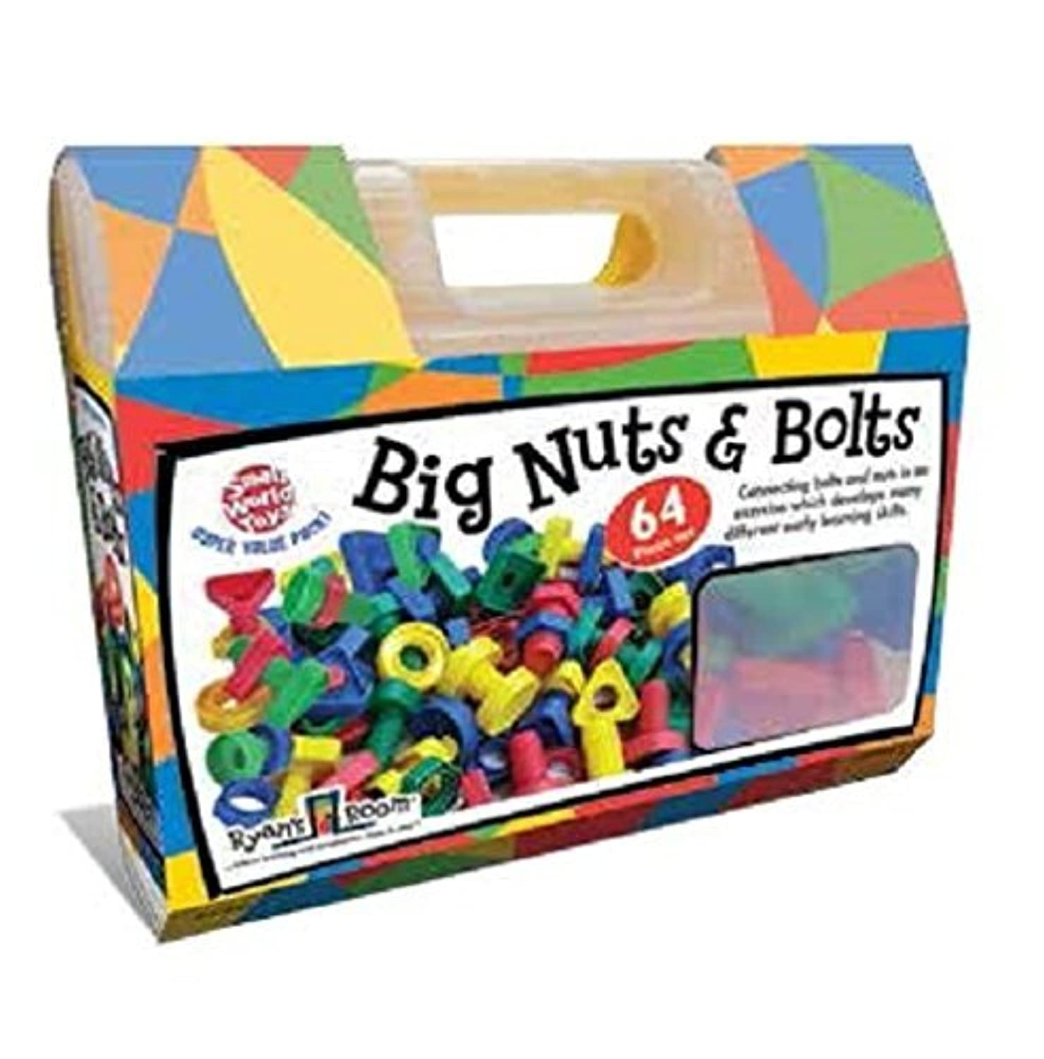 Small World Toys Ryan's Room Educational - Big Nuts and Bolts (64-Piece) [並行輸入品]