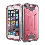 iPhone 7ケース 耐衝撃カバー 滑り防止 超頑丈 PC+TPU二重構造 落下防止 全面保護 バンパーケース iPhone 7保護カバー アウトドア スマホケース アイフォン7対応 全4色 (ピンク)