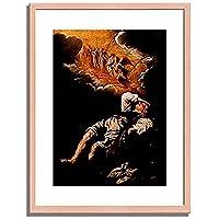 Feti, Domenico,1589-1623「The Dream of Jacob's Ladder.」インテリア アート 絵画 プリント 額装作品 フレーム:木製(白木) サイズ:M (306mm X 397mm)