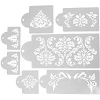 Demiawaking 製菓用品 ケーキステンシル ケーキデコレーション ケーキテンプレートツール ケーキ型 装飾ステンシル (1)