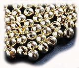 タングステン・丸型(穴は縦スリットタイプ)フライタイイング用ビーズ (ゴールド, 2.8mm)
