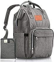 KeaBabies Baby Diaper Bag Backpack - Multi-Function Waterproof Travel Baby Bags, Large Maternity Nappy Bags, C