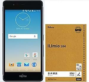 【Amazon.co.jp 限定】arrows M03(ブラック) IIJmio みおふぉん SIMカード 音声通話パック付