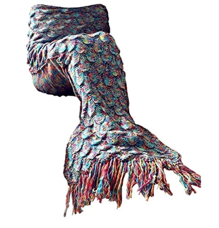 [オパール]Opall 2016 Handmade Mermaid Tail Blanket Summer Super Soft Sleeping Bags with Scales Pattern and Tassels [並行輸入品]