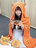 【SDR】 干物妹! うまるちゃん 160cm フード マント 毛布 フリース コスプレ こすぷれ 土間うまる 干物 フリーサイズ オレンジ