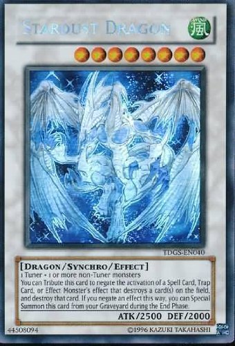 Yu-Gi-Oh! - Stardust Dragon (TDGS-EN040 ) - The Duelist Genesis - Unlimited Edition - Ghost Rare