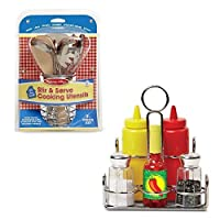 Melissa & Doug Let's Play House! Stir and Serve Cooking Utensils and Condiment Set [並行輸入品]