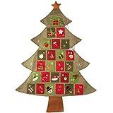 d-fantix Countdown toクリスマスカレンダークリスマスツリーファブリックAdvent CalendarインドアDecorations
