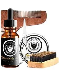 ひげの心配セット、人のためのオイル、ワックス、ブラシ、はさみが付いている良質のひげのキット