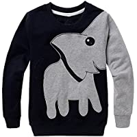 Little Hand Boys Jumpers Elephant Sweatshirt Pullover Long Sleeve T-Shirt For Kids