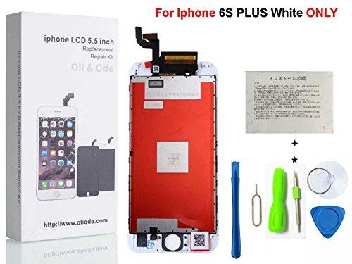 CW iPhone 6s plus 5.5インチ3Dタッチスクリーン修理交換用フロントパネル(フロントガラスデジタイザ)修理交換用高品質LCD 液晶パネルセット  修理工具付属 ホワイト