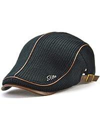 VICSPORT キャスケットハンチング帽欧米紳士ニットハンチング無地カジュアル調節可能アウトドア 旅行 (全6色)