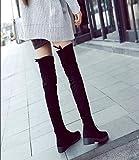 マリア)MARIAHストレッチロングブーツ ロング ブーツ ニーハイブーツ スエード風 歩きやすい ローヒール