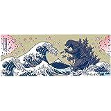 ゴジラ 捺染手ぬぐい 富嶽三十六景大怪獣ノ図 桜