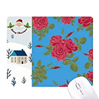 青赤を描く芸術工場 サンタクロース家屋ゴムのマウスパッド