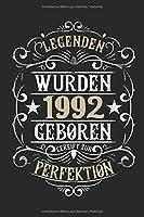 Legenden wurden 1992 geboren gereift zur Perfektion: 27. Geburtstag: Ein Notizbuch oder Album mit Platz auf 120 punktierten Seiten fuer Erinnerungen, Erlebnissen, Wuenschen, Hoehepunkten, Witzen, Glueckwuenschen, Spruechen, Gedichten, Fotos, Zeichnungen