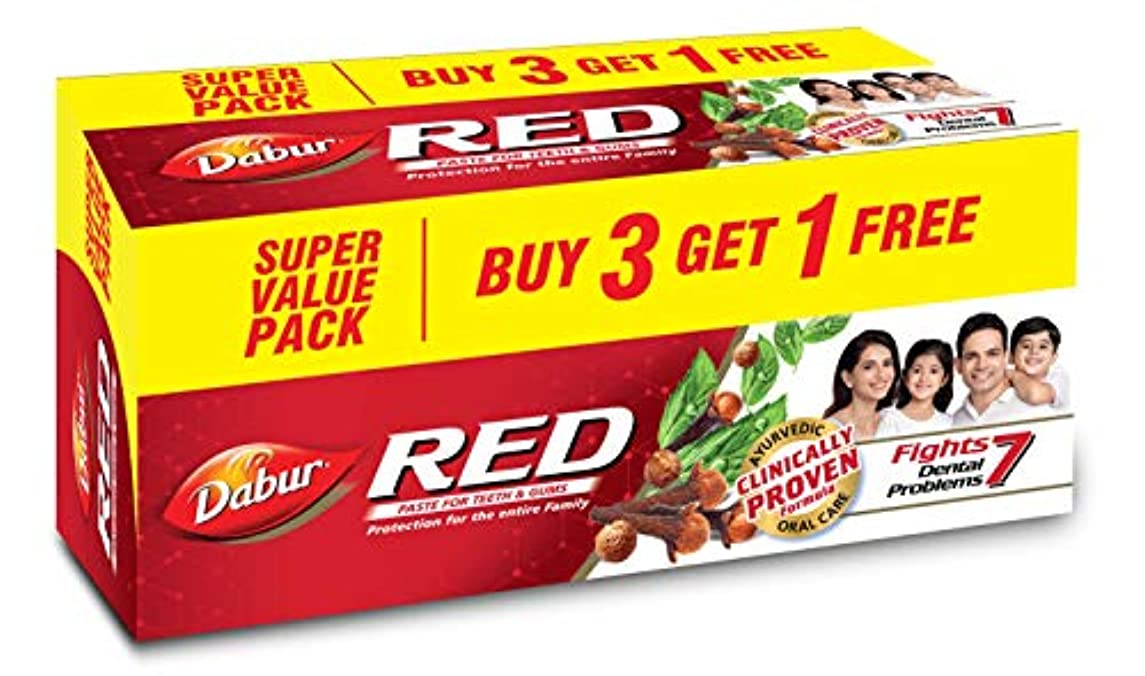 魅惑する薄める太いDabur Red Paste - 200g (Buy 3 Get 1 Free)