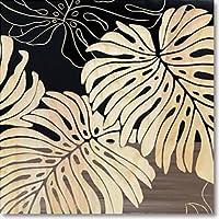 ユーパワー 植物・花 ブラック W40xH40xD4cm