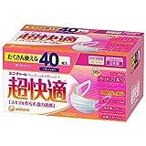 ユニ・チャーム 超快適マスクプリーツタイプ小さめサイズ 3層式 1箱(40枚入) 日本製 PM2.5対応