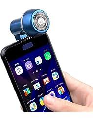 HINZER メンズシェーバー 髭剃り 電気シェーバー 回転式 ミニ 電動ひげそり 携帯電話/USB充電式 持ち運び便利 ビジネス 通勤用 海外対応 type-cポートブルー