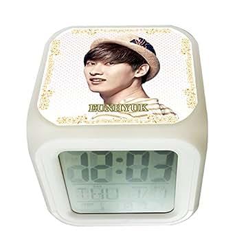 SUPER JUNIOR SUPERJUNIOR スーパージュニア ウニョク EUNHYUK 光る時計 置き時計 デジタル時計 目ざまし時計