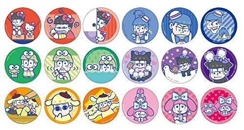 バッジ ピンズ キャラクター  おそ松×ハローキティ 釣り   おそ松さん×サンリオキャラクターズ トレーディング缶バッジ