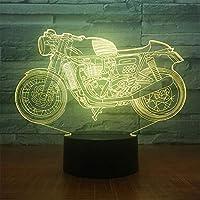 光 ランプ イルミネーション 寝室 LED 雰囲気 アクリル 3D 電気スタンド カラフル USB 夜の光 子 オートバイ ベッドサイド 装飾(22 * 15 * 6CM)