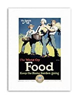 War WWI USA World Food Home Garden Farm Military Canvas Art Print アメリカ合衆国