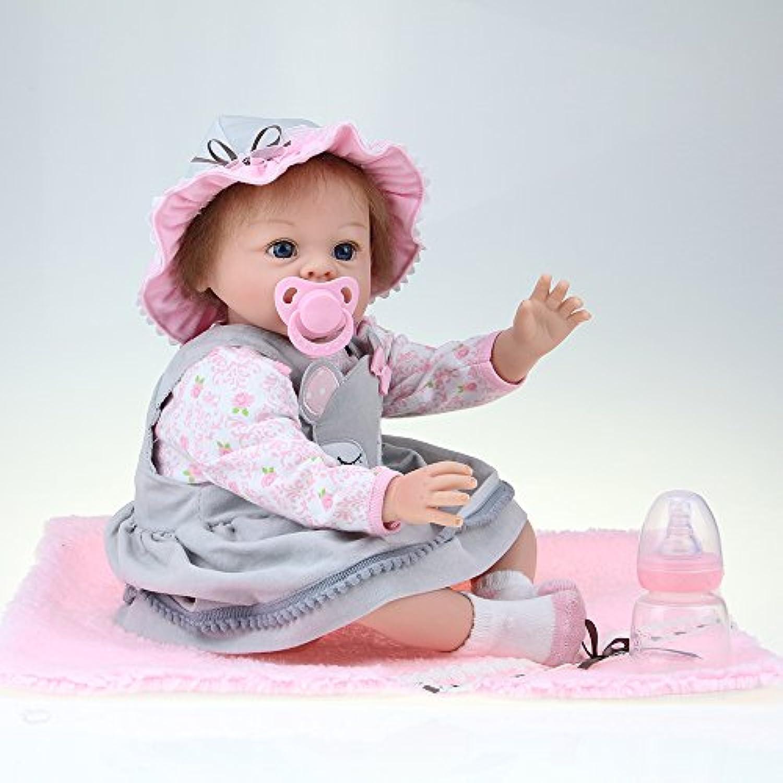 Decdeal 55cm リボーン ベビードール ガール PP詰め物 かわいい ギフト おもちゃ