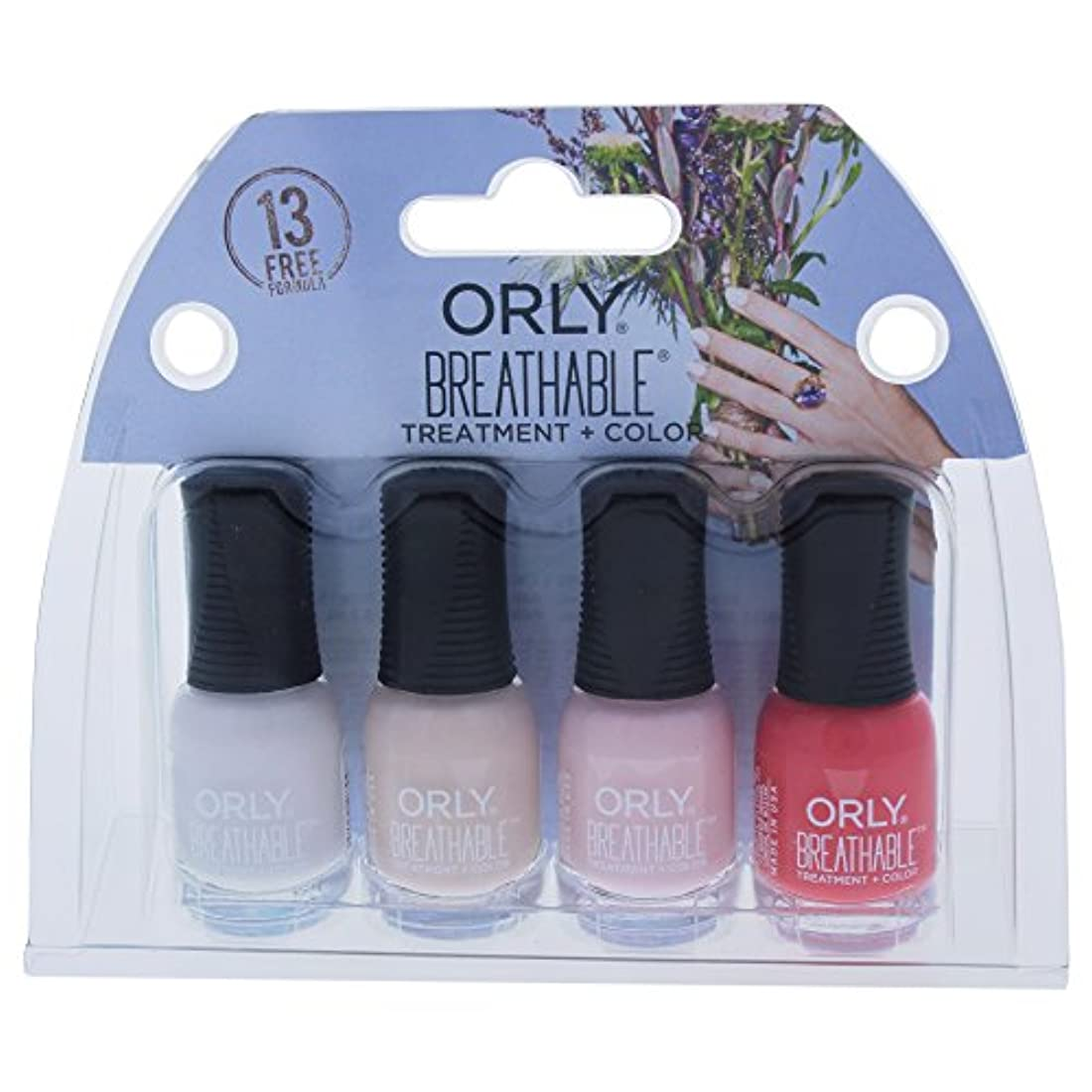 割り当て有名人オーストラリア人Orly Breathable Nail Lacquer - Mini 4pc Kit - 0.18oz / 5.3ml Each - 28909