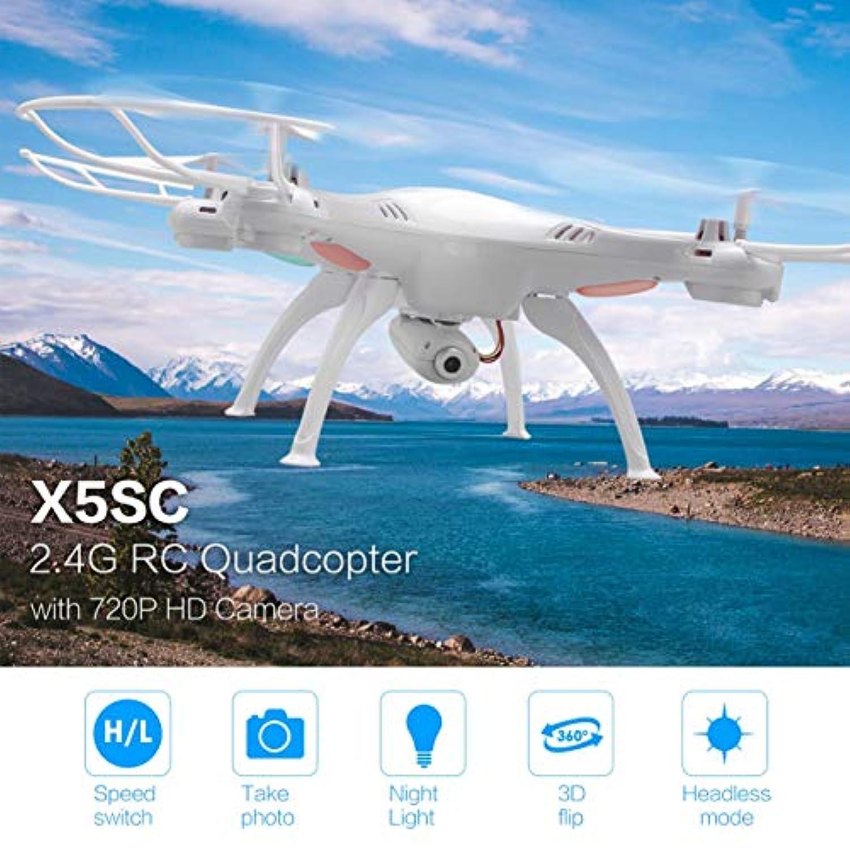 SYMA X5SC 2.4G RCクアドコプタードローン720P HDカメラヘッドレスモードホワイト