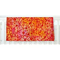 KESS InHouse Ebi Emporium Make A Wish Orange Red Fleece Baby Blanket 40 x 30 [並行輸入品]