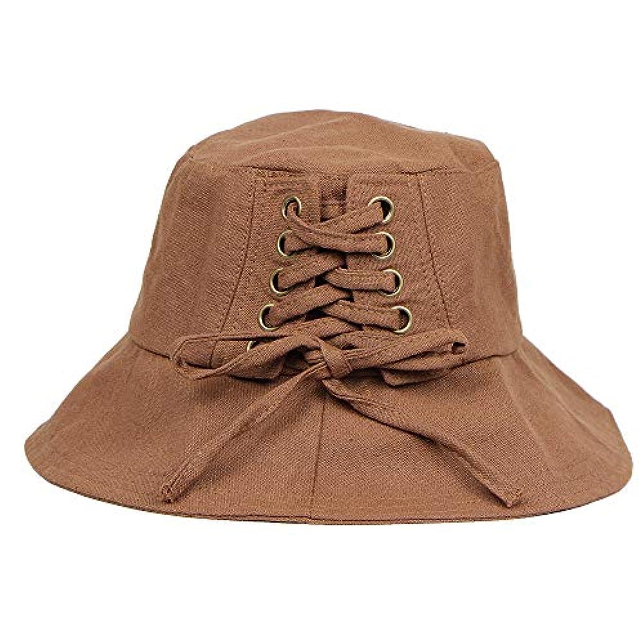 赤字征服者適応帽子 ハット 女性の春と夏の帽子折りたたみワイドつばフロッピーキャップ日漁師の帽子
