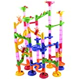 HOMYL 105pcs Marble Run Race Set with Marbles DIY Construction Toy for Children