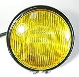 PEGAZOU (ペガ蔵) バイク ベーツ ライト イエロー レンズ 4.5インチ ブラックバック
