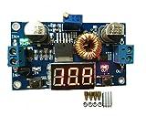 【PacoShop919】 降圧 型 可変 DC-DC コンバーター基板 デジタル電圧計付 5A 75W (赤/レッド) P191
