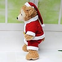 ダッフィー&シェリーメイコスチューム 洋服 クリスマス サンタさん風衣装 duffy ディズニー 通販 wdw ベア Disner Bear シェリーメイ洋服 ダッフィー洋服 Sサイズ 43cm プレゼント