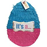 It's a Gender Reveal Easter Egg Pull Strings Pinata