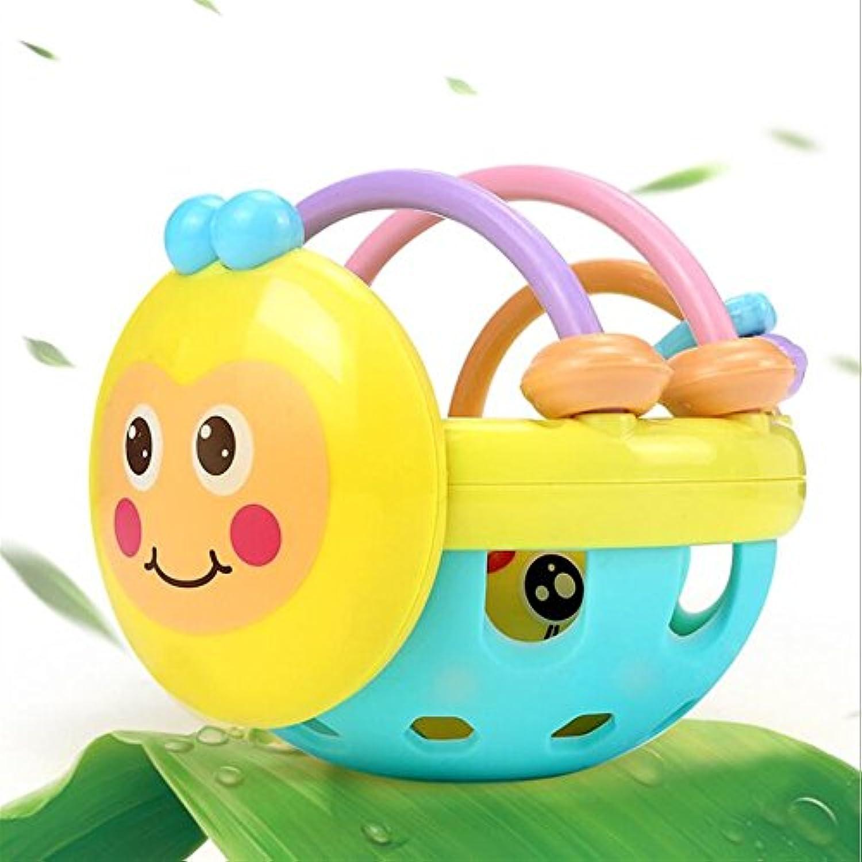 Keaner新生児幼児おもちゃRoly - Poly赤ちゃんプラスチックBee Hand Rattles Bell Kids Funnnyボールおもちゃギフト(カラフル)