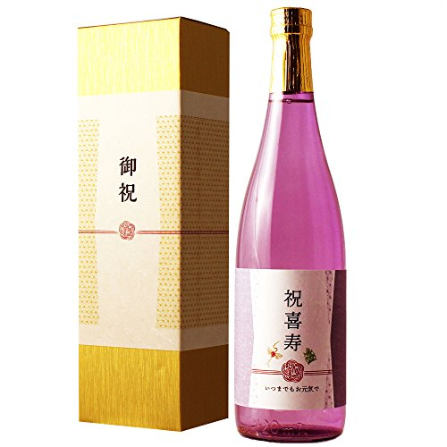 純米大吟醸 喜寿祝い 金箔入り日本酒 720ml 専用化粧箱入り 父 母 男性 女性 プレゼント
