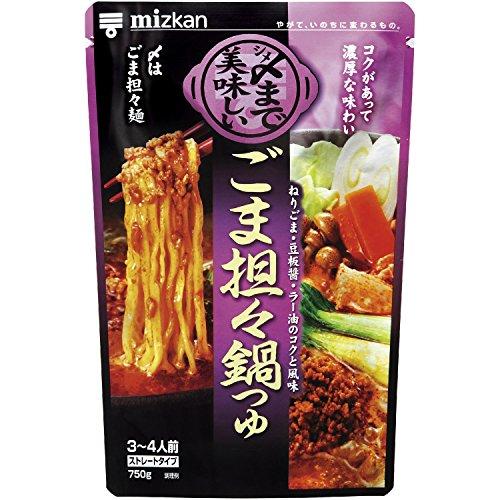 ミツカン 〆まで美味しいごま担々鍋つゆ ストレート 750g×12個