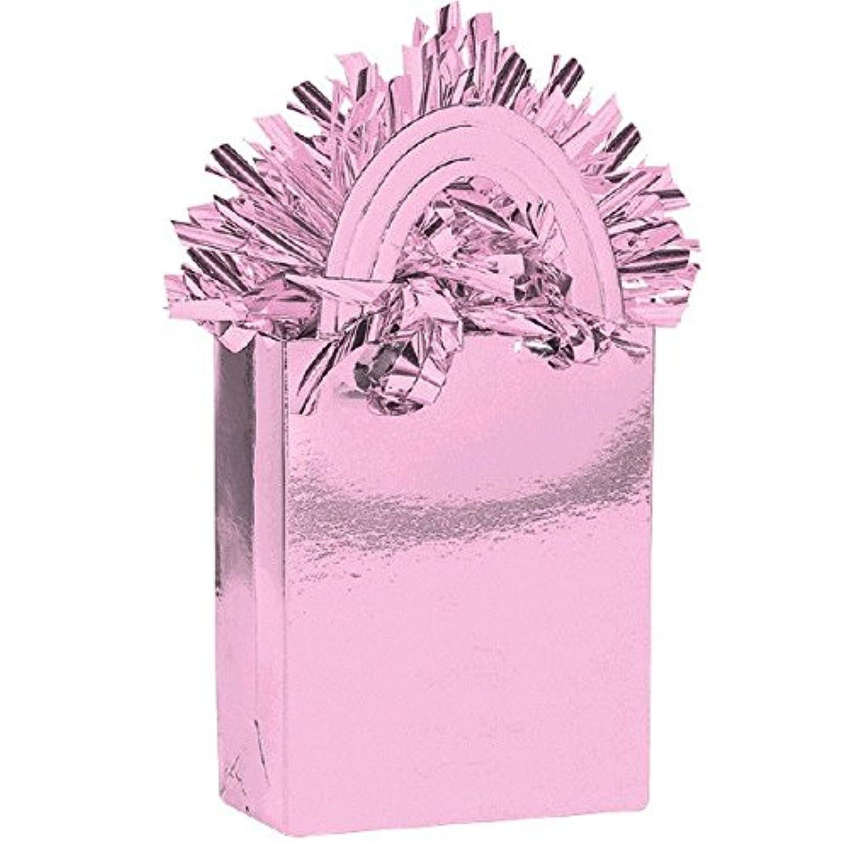 ピンクミニトートバッグパーティーバルーン重量装飾、カードストック、5.7 Oz。。