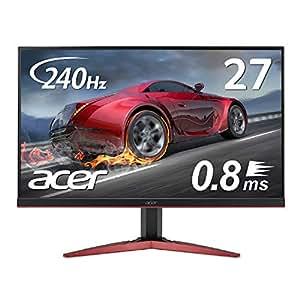 Acer ゲーミングモニター KG271Fbmiipx 27インチ 240hz 0.8ms TN FPS向き フルHD 非光沢 フレームレス