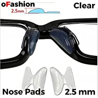 Nose Pads Anti-slip Stick on Silicone For Glasses Spectacles Eyeglass Sun-glass, 1 Pair 2.5 mm Thick