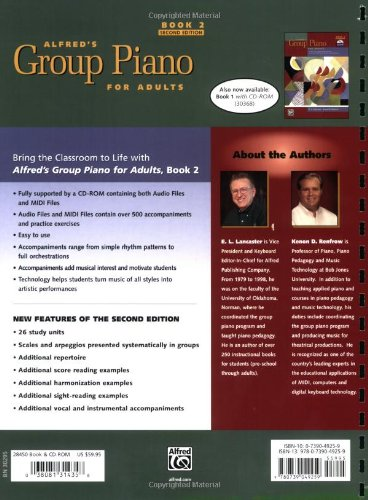 『Alfred's Group Piano for Adults: Book 2』の1枚目の画像
