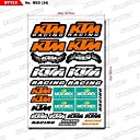 KUNGFU GRAPHICS カンフー グラフィックス KTM レーシングスポンサーロゴ マイクロデカールシート (オレンジ)